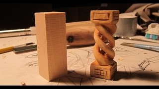 Download Hollow Spiral Whittler's Puzzle - Fun woodcarving project!!! Video