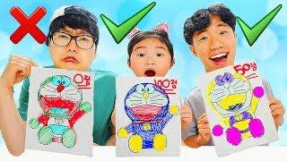 Download 3마커 챌리지 2탄 놀이 해봤어요!! 3가지 색으로 시간안에 캐릭터 색칠놀이 완성하기! 3 MARKER CHALLENGE Video