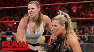 Download Returning Ronda Rousey brawls with Alicia Fox and Alexa Bliss: Raw, July 30, 2018 Video