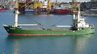 Download ⚓ shipspotting Valletta/Malta: General Cargo Ship ANASTASIA IMO8926121 Video