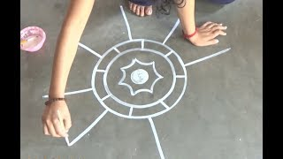 Download A big easy Bengali New Year″s art by me/ Simple Rangoli designs Video
