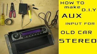 Download AUX input Installation for any old model car stereo even without CD exchangerport [D.IY] Video