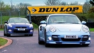 Download Nissan GTR vs Porsche 911 Turbo S - Fifth Gear Video