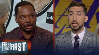 Download Lakers could be title contenders with D'Angelo Russell - Nick Wright | NBA | FIRST THINGS FIRST Video