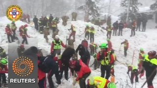 Download Search continues for 23 missing at avalanche hotel Video