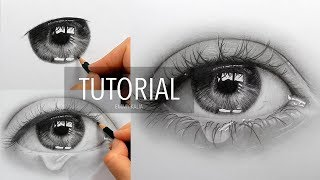Download How to draw, shade a realistic eye with teardrop | Step by Step Drawing Tutorial Video