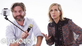 Download Zach Galifianakis and Kristen Wiig Rate Kid Stuff | Glamour Video