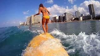Download GoPro and Daize Girl surf Waikiki Hawaii Video