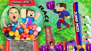 Download BOY TRAPPED IN GUMBALL MACHINE! Minecraft Fantasia Lucky Block Race + Wall Jump Mod (FGTEEV Fun!) Video