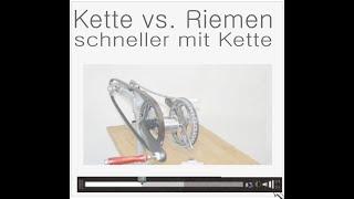 Download Video 1 : Wirkungsgrad Riemen vs. Kette - mehr Kraftbedarf durch Riemen (Untertitel !) Video