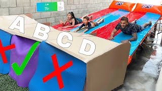Download DON'T Water Slide through the Wrong Mystery Box!! (YOU DECIDE) | Familia Diamond Video