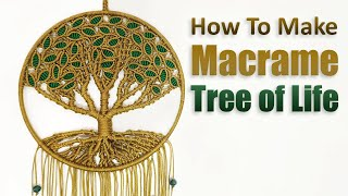 Download DIY Tutorial l How to Make Macrame Tree of Life Video