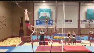Download Aliya Mustafina Playing with a Baby, Vanessa Ferrari's Double Layout Video
