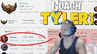 Download COACH TYLER1 - 35% WINRATE IN BRONZE Video