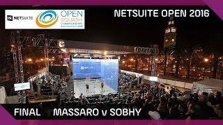 Download Squash: Massaro v Sobhy - NetSuite Open 2016 - Final Highlights Video