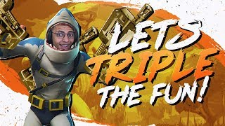 Download TRIPLE P90 GAME! THEY DON'T STAND A CHANCE.. (Fortnite BR Full Match) Video