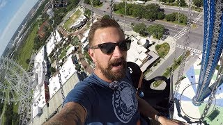Download Riding 450 Foot Tall Swings At Starflyer Orlando On IDrive!   World's Tallest Swing Ride! Video