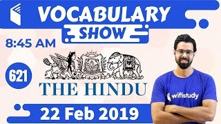 Download 8:45 AM - Daily The Hindu Vocabulary with Tricks (22 Feb, 2019) | Day #621 Video