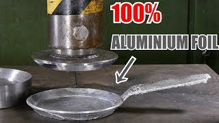 Download Making Frying Pan from Aluminium Foil with Hydraulic Press   in 4K Video