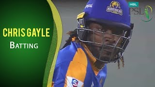 Download PSL 2017 Match 20: Karachi Kings vs Islamabad United - Chris Gayle Batting Video