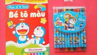 Download Bé Tập Đếm và Học Màu Sắc với Đồ Chơi Bút Màu Crayola Thông Minh, Vở Tô Màu Doraemon Video