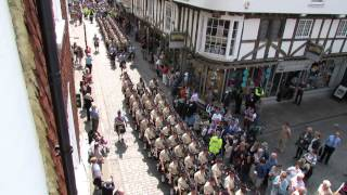 Download 5 Scots marching into Canterbury Cathedral Video