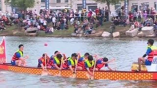 Download Duanwu festival: International students compete in dragon boat race Video