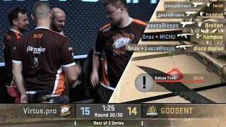 Download Snax & Pasha 2 VS 5 Clutch For The Win! Virtus.pro Highlights VS Godsent Video