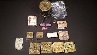 Download 1951 Korea Ration Combat Individual Accessory Packet Can Vintage MRE Food Ration Review Video