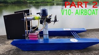 Download Build a Airboat RC using Nitro 2-stroke Engine - Part 2 Video