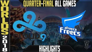 Download C9 vs AFS Highlights ALL GAMES | Worlds 2018 Quarter-Final | Cloud9 vs Afreeca Freecs Video