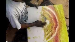 Download طفل شوارع يرسم لوحة فنية بيديه لن تصدق ما ستراه بعينك !! Video