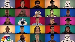 Download Jimmy Fallon, The Roots & ″Star Wars: The Force Awakens″ Cast Sing ″Star Wars″ Medley (A Cappella) Video