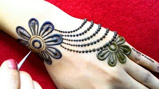 Download Stylish Jewellery Mehndi Design for Backhands |Thought of Creation Video