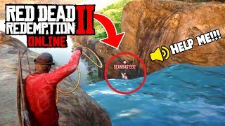 Download SAVING ONLINE PLAYER FROM DEATH! (Red Dead 2 Fails & Funny Moments #5) Video