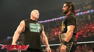 Download Brock Lesnar is revealed as Seth Rollins' next challenger: Raw, June 15, 2015 Video