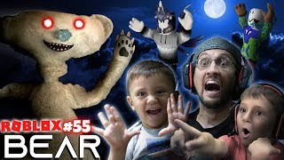 Download SCARY ROBLOX GAME! BEAR CHASE! 🐻 = 🏃 FGTeeV Creepy Hide and Seek (#55) Video