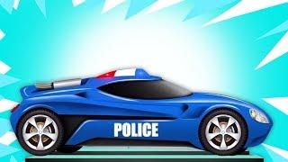 Download Carro de polícia futurista | Garagem do carro | Kids Vehicles | Learn Futuristic Cars | Police Car Video