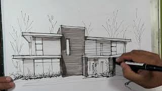 Download how to draw a house with markers Video