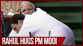 Download No-Confidence motion: PM Modi mocks Rahul Gandhi's bear hug in Lok Sabha Video
