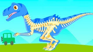 Download Fun Jurassic Dig Games - Kids Play & Find Dinosaur Bones With Cute Vehicles - Dino Game For Children Video