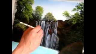 Download majestic falls speed painting Video