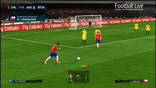 Download PES 2017   Chile vs Australia   2 Free Kick Goal & Full Match   Gameplay PC Video