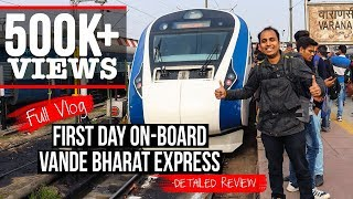 Download Review Vlog: Day 1 onboard Vande Bharat Express- Train 18 | Indian Railways Video