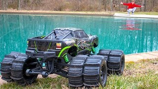 Download WILL IT DRIVE ON WATER!! (MONSTER TRUCK XMAXX MOD) Video