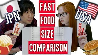 Download Japan vs USA | How different are fast food menus? Video