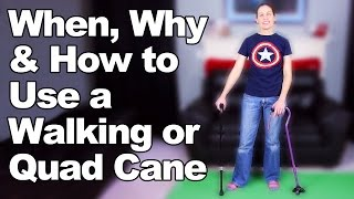 Download When, Why & How to Use a Walking Cane or Quad Cane - Ask Doctor Jo Video