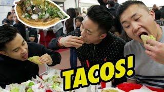 Download TACOS BY THE BORDER! (Tacos El Gordo) - Fung Bros Food Video