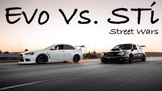 Download Insane STi VS Evo Street Battle Video