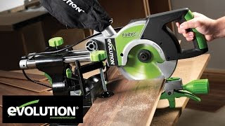 Download Evolution FURY3: 210mm Multipurpose Sliding Mitre Saw Video